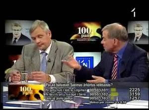 Kā TV ekrānā savaldīt uzbudinātus Lembergu, Šleseru un Žirinovski?