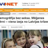 Demogrāfija bez seksa. Mēģenes bērni – viena izeja no Latvijas krīzes