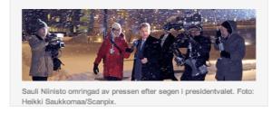 Somijas Prezidents šorīt tiekas ar presi, attēls no SR