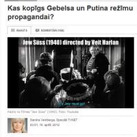Kas kopīgs Gebelsa un Putina režīmu propagandai?