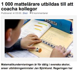Kā iemācīt matemātiku? Sveriges Radio