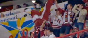 Latvijas hokeja līdzjutēji Stokholmā, 2012. 05.05 skat. TV4 play