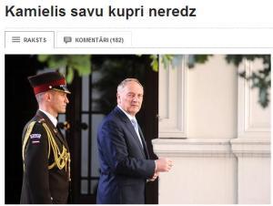 Prezidenta retorikas kurkuļi un latviešu valodas vajātāji