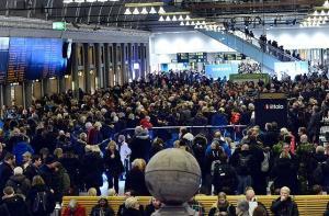 Sniega haoss Stokholmā 5. decembris 2012. Skats Stokholmas centrālajā stacijā T-centralen. Foto no SVD