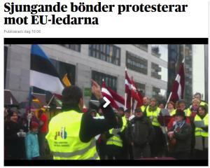 Baltijas zemnieku protests Briselē