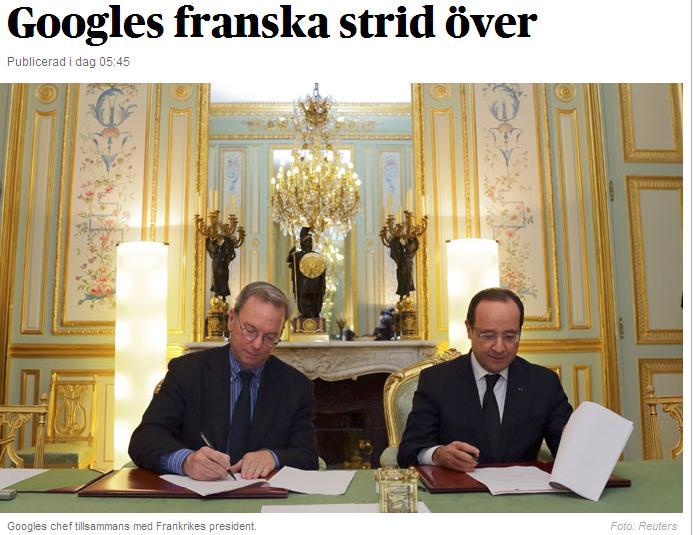 Google vienojas ar Franciju