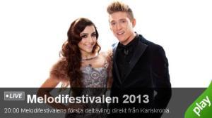 Melodifestivalen 2 febr 2013 Larlskrona Live