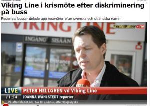 Viking LIne pasažieru rasu dikriminācija