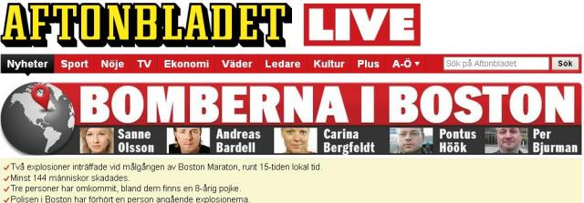 Aftonbladet 4 korespondenti