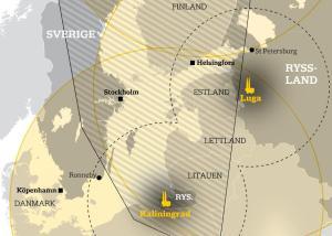 Iskander raķešu darbības radiuss