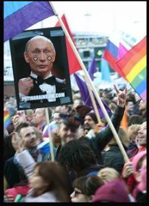 Protesti pret Putinu Eiropā