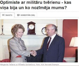 Tečere un Gorbačovs Foto TVNet