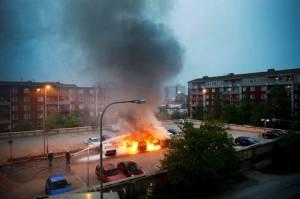 Husbija Stokholma nemieri foto Aftonbladet