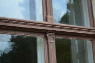 vecie, autentiskie logu rāmji Reņģes muižā