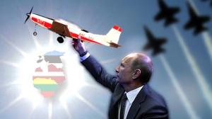 Putins. Krievija manevri Zapad TVnet karikatura