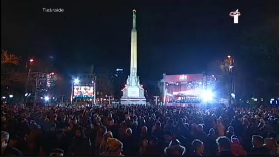 Brīvības piemineklis 2013. gada 18. novembris