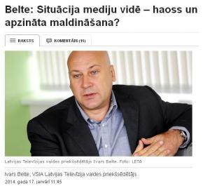 LTV valdes priekšsēdētājs Belte attēls no TVnet