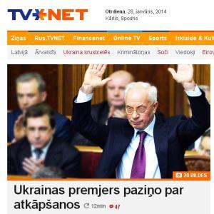 Ukrainas premjers atkāpjas