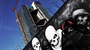 Fonā: ECB jaunās ēkas celtniecība. Frankfurte., Foto: Reuters/Scanpix, TVNET