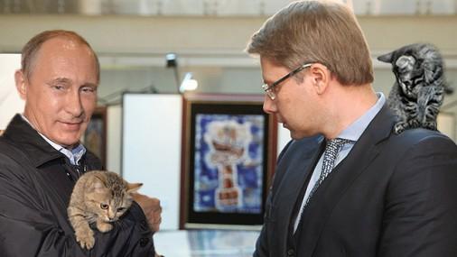 Putins kaki un Ušakovs TVNet bilde