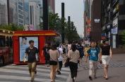 Cilvēki Seulā uz ielas 9