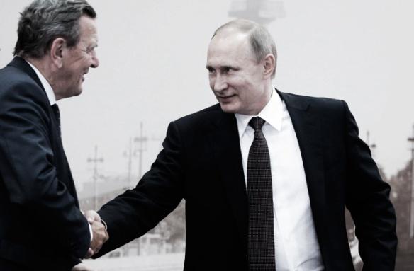 šrēders un Putins