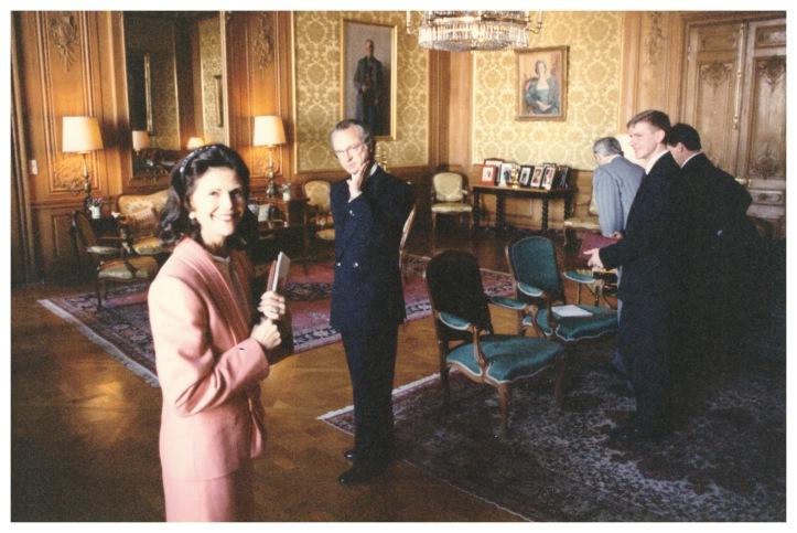Autore pieņemšanā un intervijā pie Zvedrijas karaļa