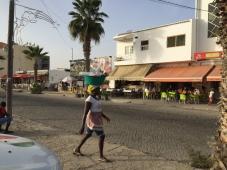 Kaboverde. Santa Maria. Tipisks Āfrikas skats.