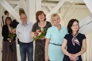 Profesoru parāde: Ainārs Dimants, Dace Markus, Linda Lauze un Olga Kazāka